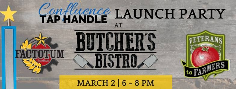 Confluence Tap Handle at Butcher's Bistro